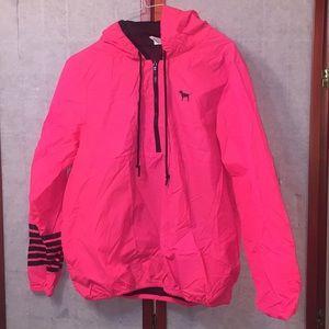 PINK fluorescent jacket with Hood. Sz M/L